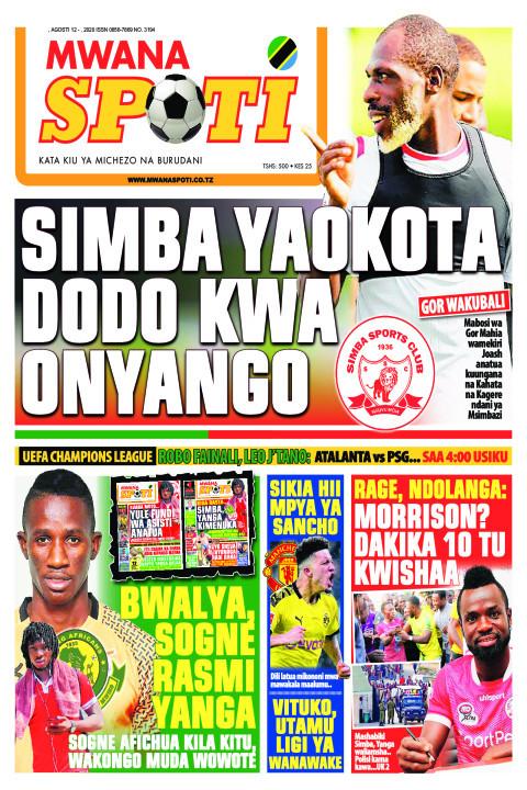 SIMBA YAOKOTA DODO KWA ONYANGO  | Mwanaspoti