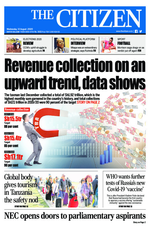 REVENUE COLLECTION ON AN UPWARD TREND, DATA SHOWS