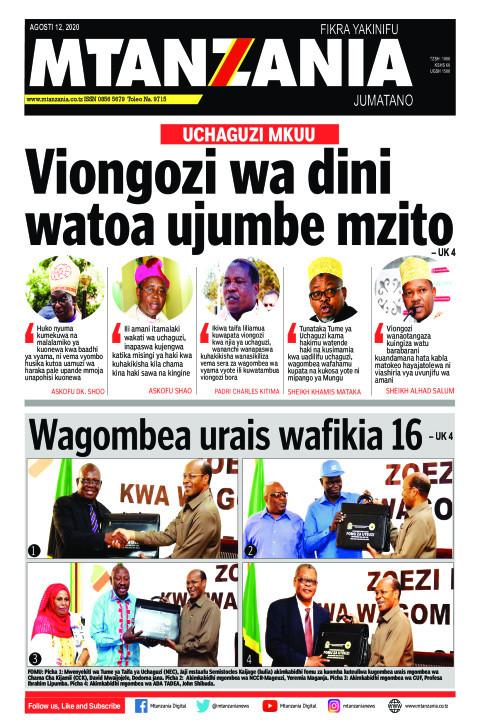 UCHAGUZI MKUU: Viongozi wa dini watoa ujumbe mzito | Mtanzania
