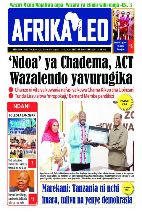 'Ndoa' ya Chadema, ACT Wazalendo yavurugika | AFRIKA LEO