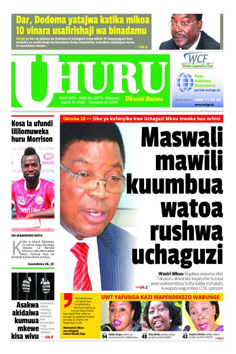 MASWALI MAWILI KUWAUMBUA WATOA RUSHWA UCHAGUZI   Uhuru