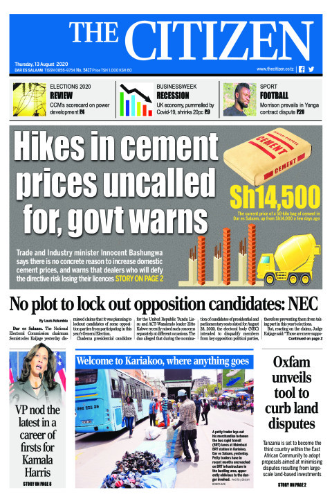 HIKES IN CEMENT PRICES UNCALLED FOR, GOVT WARNS