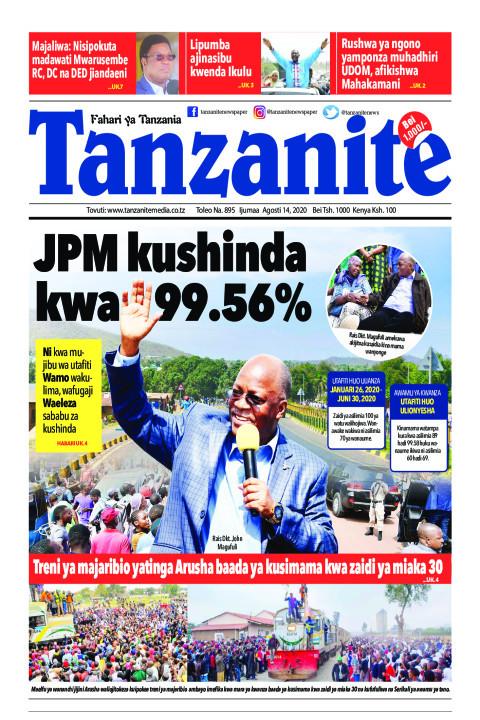 JPM kushinda kwa 99.56% | Tanzanite