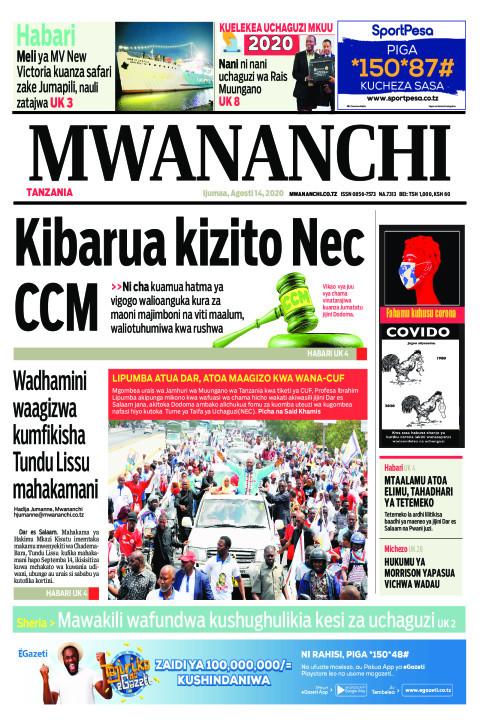 KIBARUA KIZITO NEC CCM  | Mwananchi