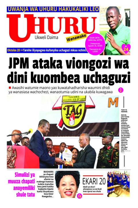 JPM ataka viongozi wa dini kuombea uchaguzi | Uhuru