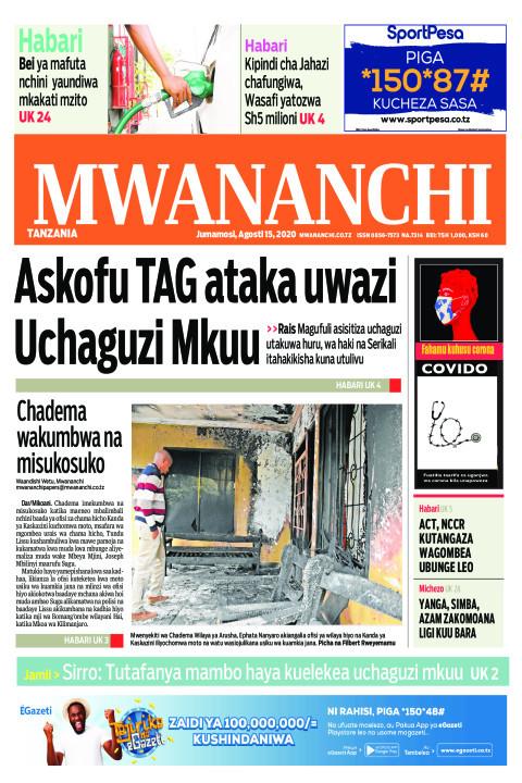 ASKOFU TAG ATAKA UWAZI UCHAGUZI MKUU  | Mwananchi