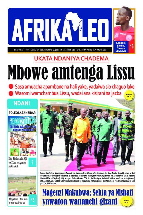 Mbowe amtenga Lissu | AFRIKA LEO