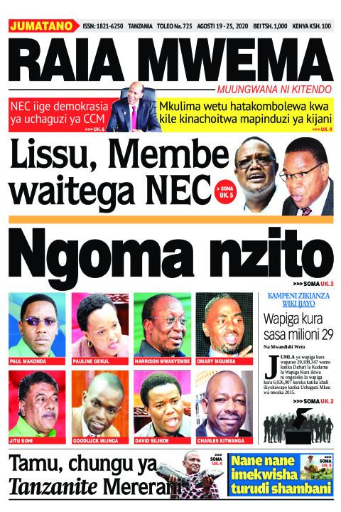 Lisu, Membe NEC Waitega NEC | Raia Mwema