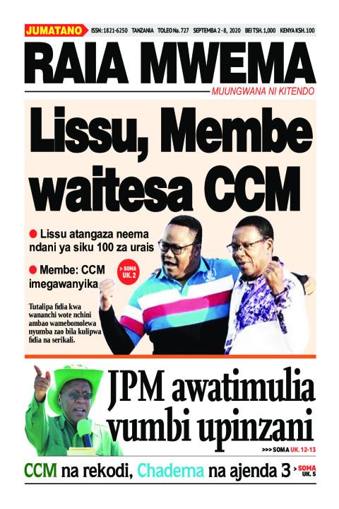 Lissu, Membe waitesa CCM | Raia Mwema