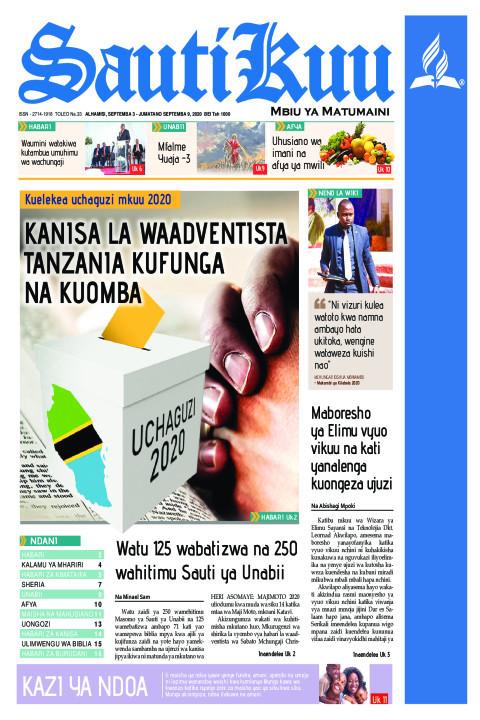 Kanisa la Waadventista Tanzania latenga siku ya kufunga na k | Sauti Kuu Newspaper