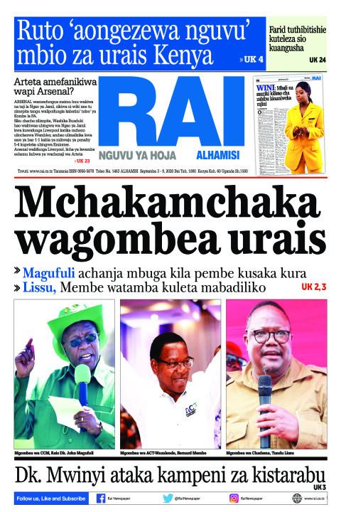 Mchakamchaka wagombea urais | Rai