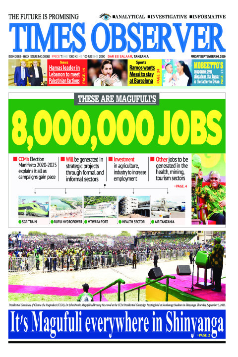 THESE ARE MAGUFULI'S 8,OOO,OOO JOBS | Times Observer