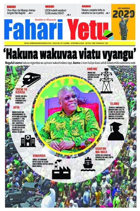 'Hakuna wakuvaa viatu vyangu' | Fahari Yetu