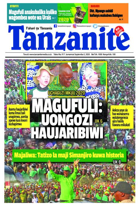 MAGUFULI: UONGOZI HAUJARIBIWI   Tanzanite