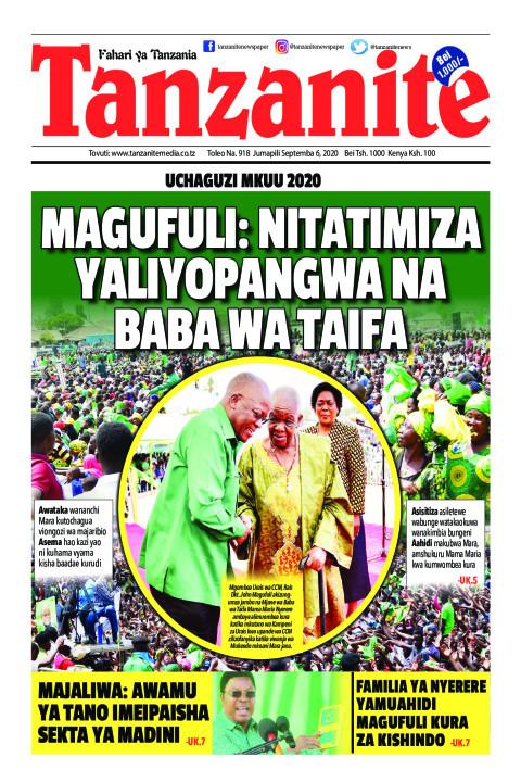 MAGUFULI: NITATIMIZA YALIYOPANGWA NA BABA WA TAIFA   Tanzanite