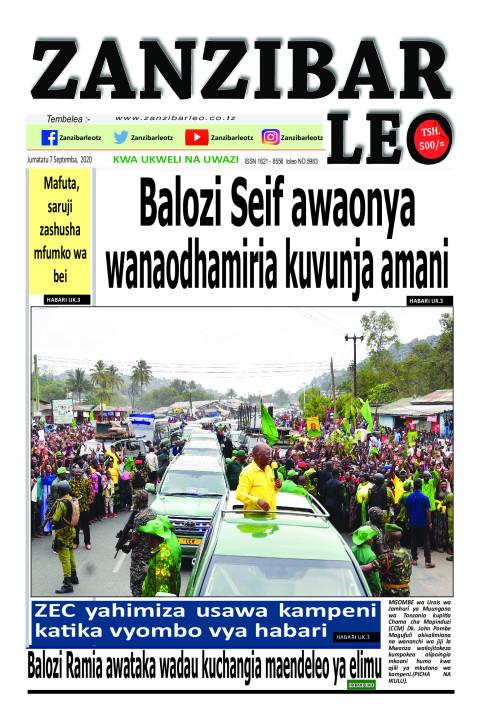 Balozi Seif awaonya wanaodhamiria kuvunja amani   ZANZIBAR LEO