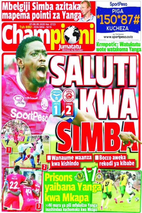 SAUTI KWA SIMBA  | Champion Jumatatu