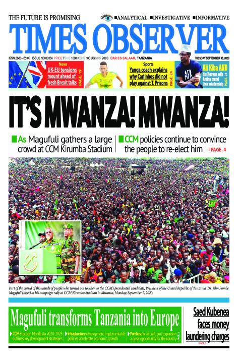 IT'S MWANZA! MWANZA! | Times Observer