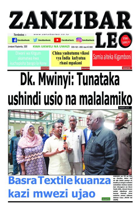Dk. Mwinyi: Tunataka ushindi usio na malalamiko    ZANZIBAR LEO