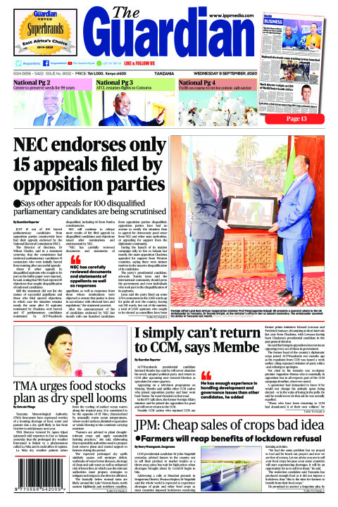 NEC endorses only 15 appeals filed by opposition parties | The Guardian