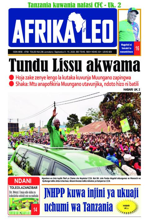 Tundu Lissu akwama  | AFRIKA LEO