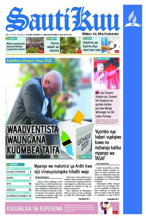 KUELEKEA UCHAGUZI MKUU 2020 - WAADVENTISTA WAUNGANA KUOMBEA  | Sauti Kuu Newspaper