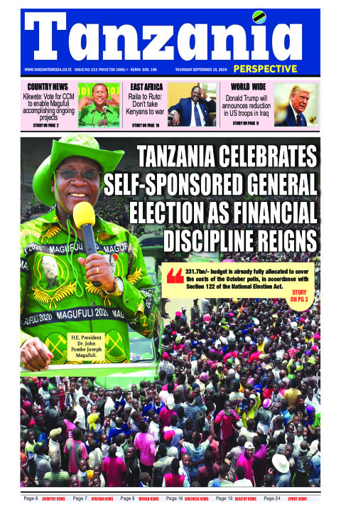 Tanzania celebrates self-sponsored General Election as finan | Tanzania Perspective