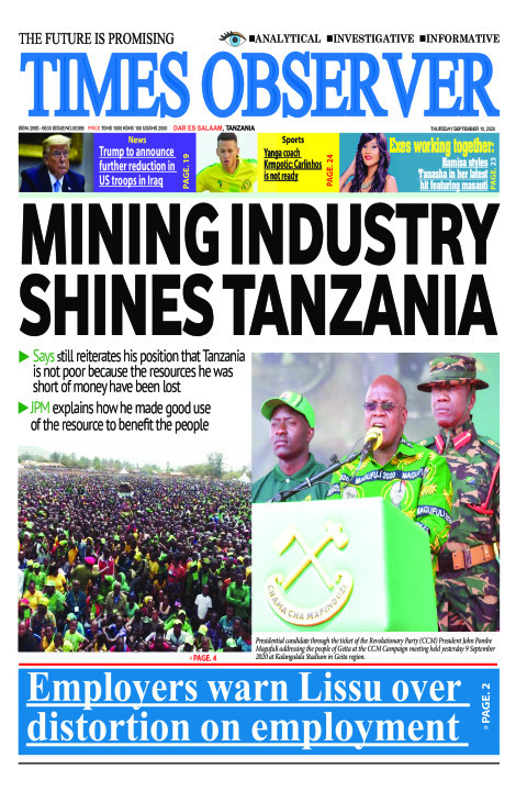 Mining industry shines Tanzania | Times Observer