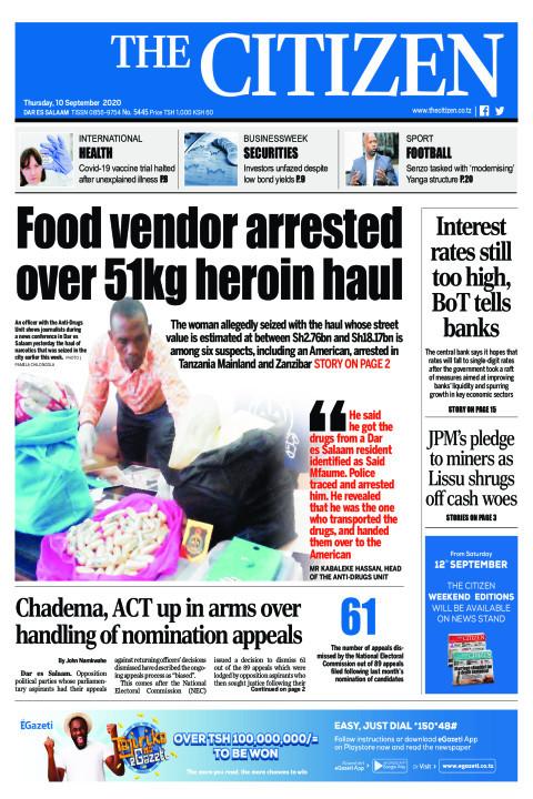 FOOD VENDOR ARRESTED OVER 51KG HEROIN HAUL  | The Citizen