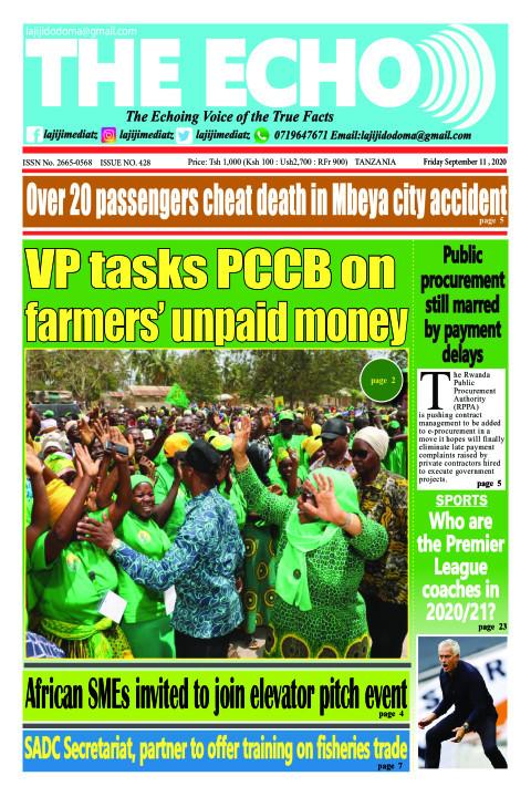 VP tasks PCCB on farmers' unpaid money | The ECHO