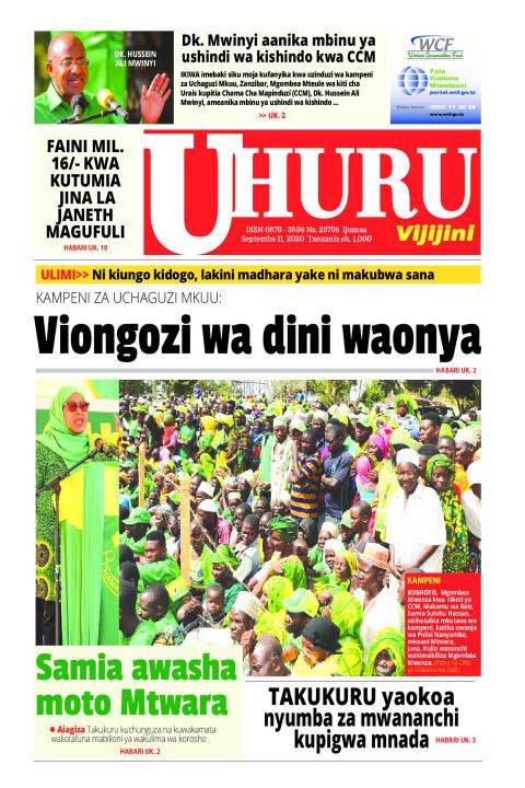 Viongozi wa dini waonya | Uhuru