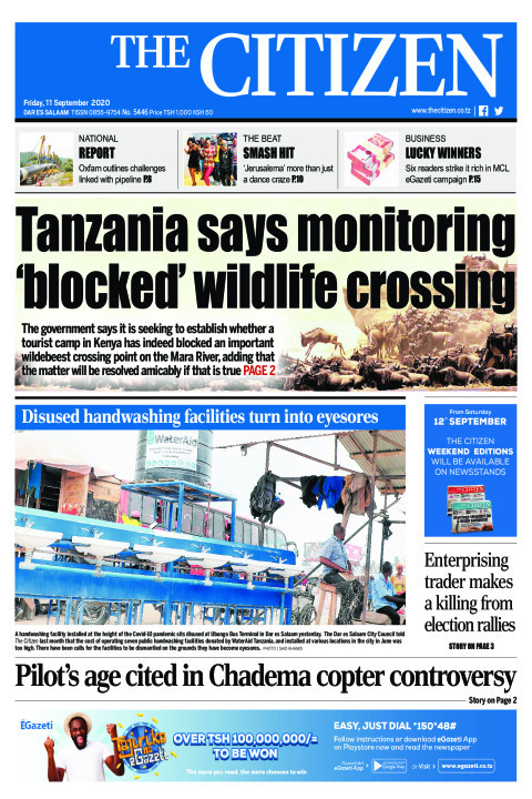 TANZANIA SAYS MONITORING 'BLOCKED' WILDLIFE CROSSING  | The Citizen