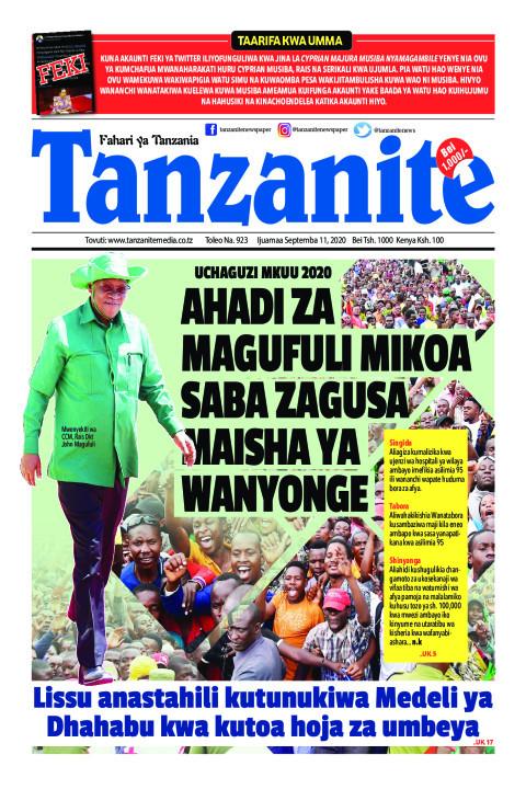 AHADI ZA MAGUFULI MIKOA SABA ZAGUSA MAISHA YA WANYONGE   Tanzanite