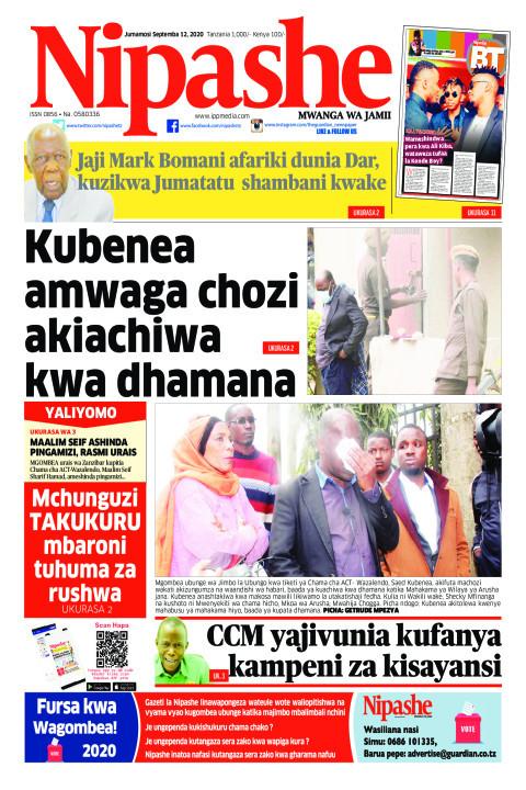 Kubenea amwaga chozi akiachiwa kwa dhamana   Nipashe