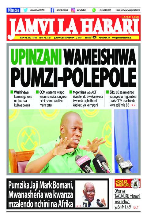 UPINZANI WAMEISHIWA PUMZI-POLEPOLE | Jamvi La Habari