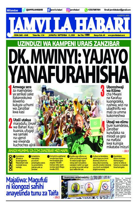 DK. MWINYI: YAJAYO YANAFURAHISHA | Jamvi La Habari