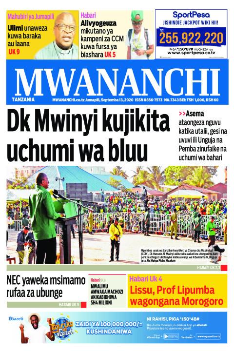 DK MWINYI KUJIKITA UCHUMI WA BLUU  | Mwananchi