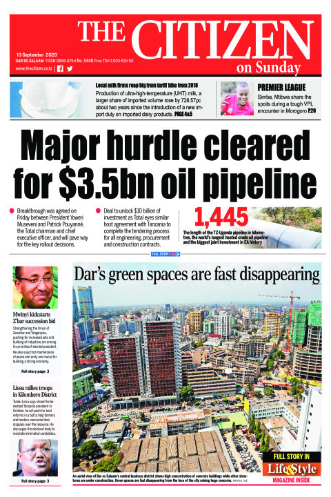 MAJOR HURDLE CLEARED FOR $3.5BN OIL PIPELINE