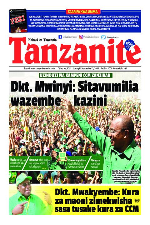 Dkt. Mwinyi: Sitavumilia wazembe kazini   Tanzanite