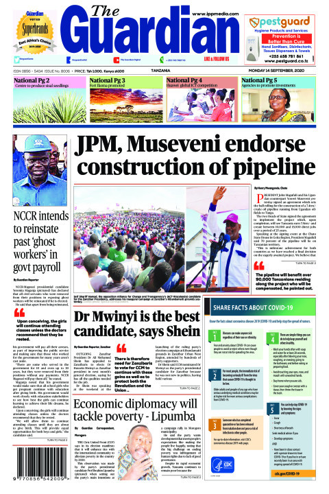 JPM, Museveni endorse