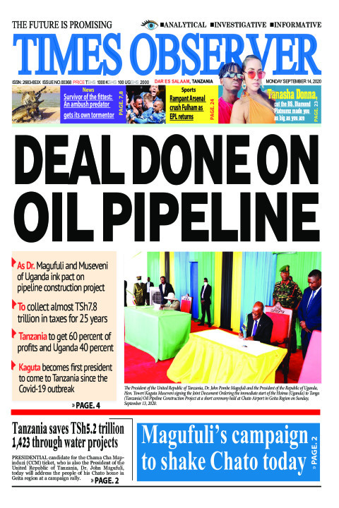 DEAL DONE ON OIL PIPELINE | Times Observer