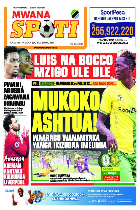 LUIS NA BOCCO MZIGO ULE ULE,MUKOKO ASHTUA!  | Mwanaspoti