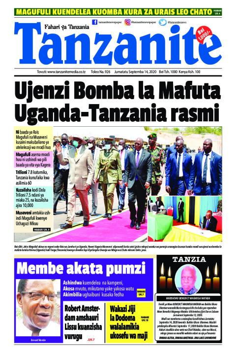 Ujenzi Bomba la Mafuta Uganda-Tanzania rasmi   Tanzanite
