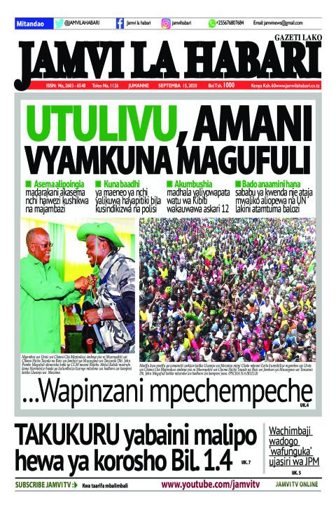 Utulivu, Amani vyamkuna Magufuli | Jamvi La Habari