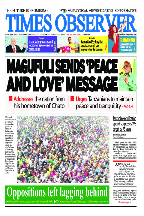 MAGUFULI SENDS 'PEACE AND LOVE' MESSAGE | Times Observer