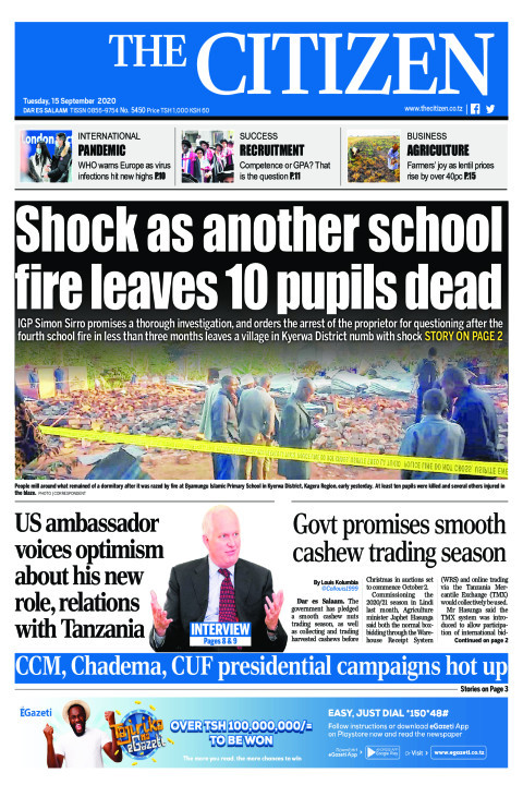 SHOCK AS ANOTHER SCHOOL FIRE LEAVES 10 PUPILS DEAD