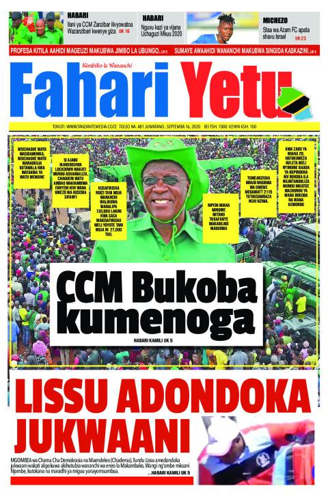 CCM Bukoba kumenoga  | Fahari Yetu