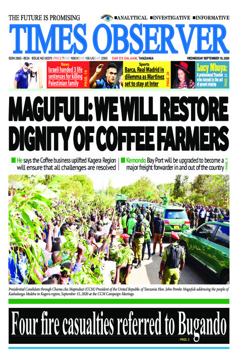 MAGUFULI: WE WILL RESTORE DIGNITY OF COFFEE FARMERS | Times Observer