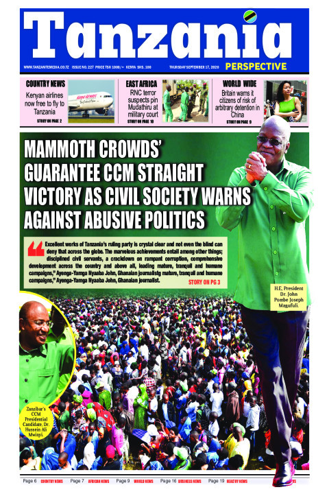 Mammoth crowds' guarantee CCM straight victory as civil soci | Tanzania Perspective