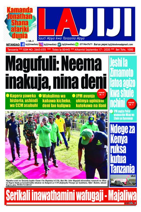 Magufuli: Neema  inakuja, nina deni   LaJiji